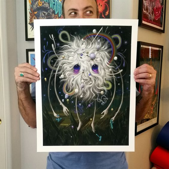 White Ghost Giclee Print | Stormcloudz