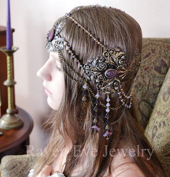 Art Nouveau Headdress Mucha Goddess. By Raven Eve Jewelry