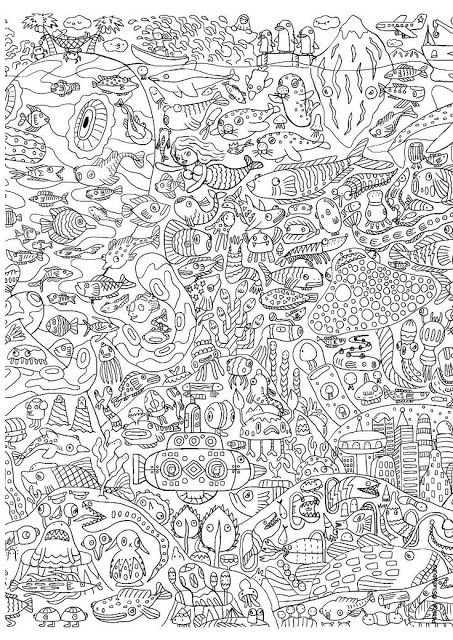 Coloring Pages Under The Sea : Under the sea free printable adult coloring pages