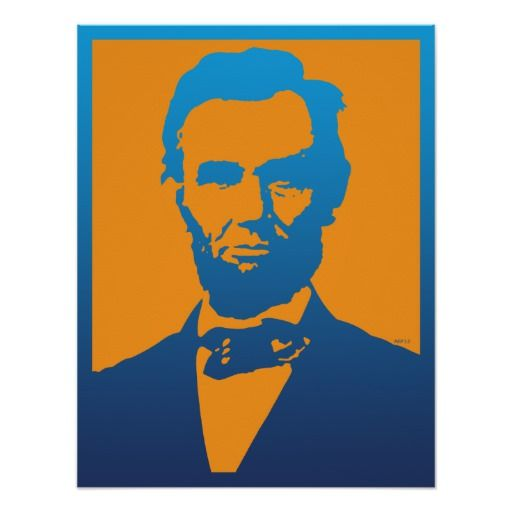 Abraham Lincoln Pop Art Poster Zazzle Com Pop Art Pop Art