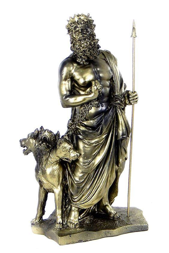 amazoncom greek god of underworld hades with cerberus