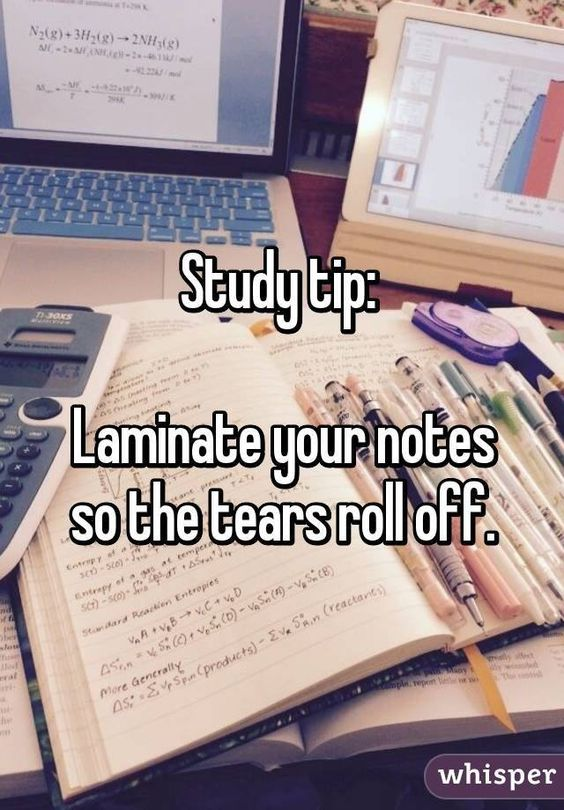 This is meant to be funny, but I actually think laminating notes (or at least putting them in clear sheet protectors/covers) is a good idea!