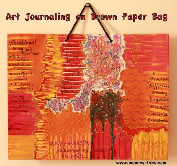 art on a paper bag