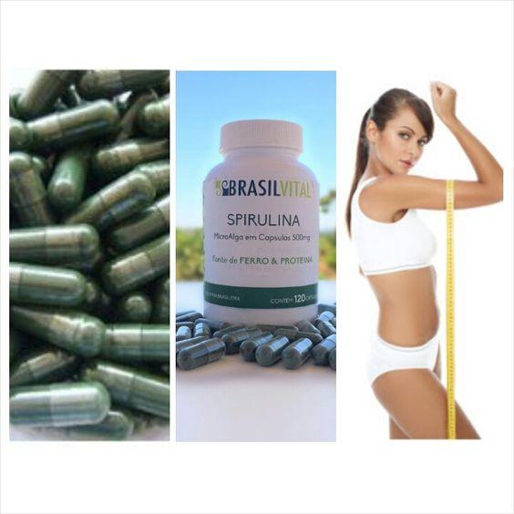 Capsulas de spirulina, 100% pura e natural. Cultivo de algas nacional. Produtor brasileiro. Vendas no site www.brasilvital-spirulina.com.br