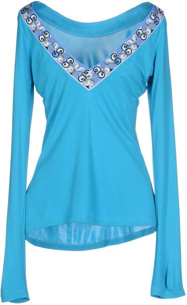 Emilio Pucci T-Shirt in Blue (Turquoise)