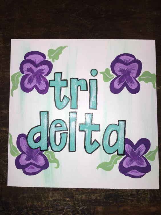 Tri Delta Craft/ Pansy Background by CraftyDaysByMadeline on Etsy