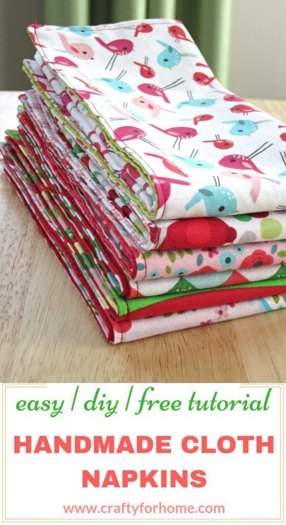 Handmade Cloth Napkins Easy Tutorials Sewing Room Decor Diy