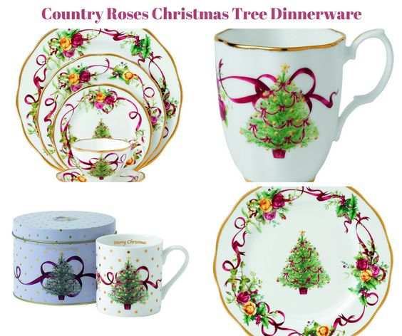 Old Country Roses Christmas Tree Dinnerware