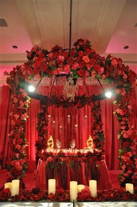 Indian Wedding Mandap Floral Arch Flowers
