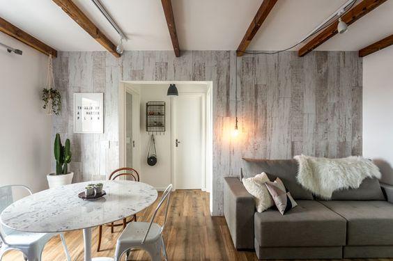 Design escandinavo e muito estilo são a marca registrada do apartamento.33, apê do casal Débora e Fernando, revestido todinho de Eliane Revestimentos!