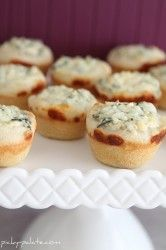 Mini Spinach Dip Bowls.  Using my own spinach dip recipe, of course!