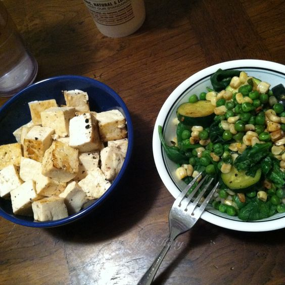 Tofu vegetable free dinner recipe vegan