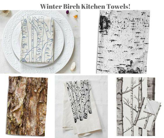Winter Birch Kitchen Towels