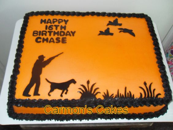 Silhouette Duck Hunting Themed Cake   My Cakes   Pinterest ...
