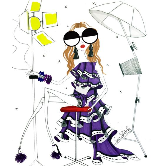 Fashion illustration, Sew Sketchy