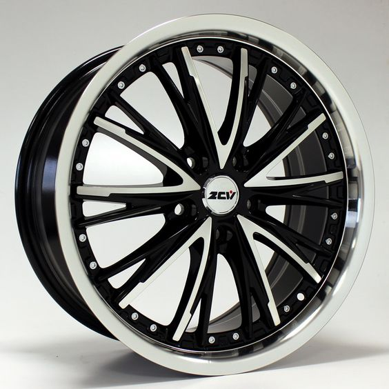 18 ZCW SHARK GLOSS BLACK POLISHED FACE alloy wheels for 5 studs wheel fitment in 8x18 rim size