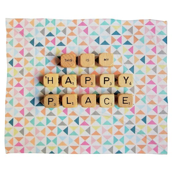 This Is My Happy Place Throw Blanket Deny Designs,: