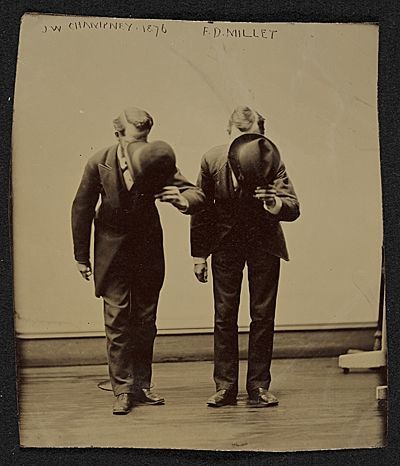 Citation: James Wells Champney and Francis Davis Millet, 1876 / unidentified photographer. James Wells Champney papers, Archives of American Art, Smithsonian Institution.