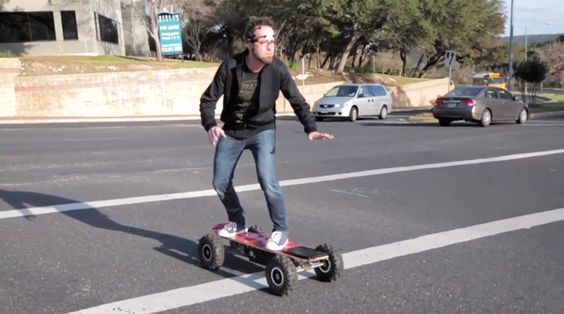 Chaotic Moon Labs' Board of Imagination is a motorized skateboard controlled only by yourmind