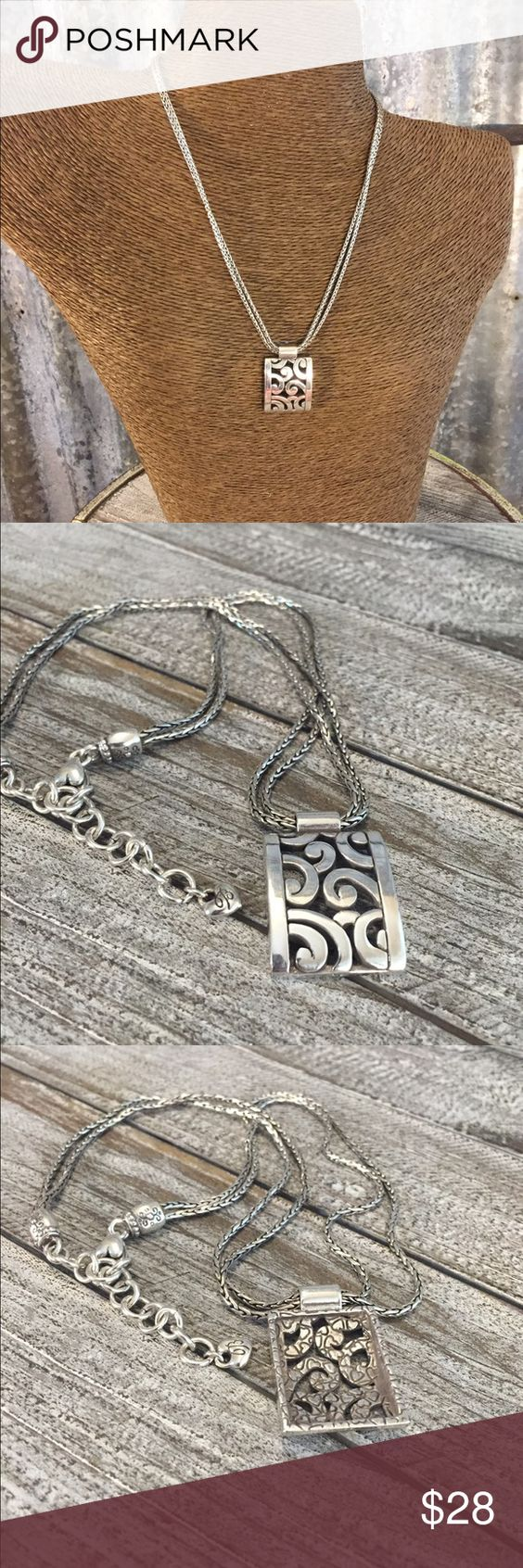"""🌺 New Listing 🌺Brighton Deco Lace Necklace Brighton  Deco Lace Necklace in good condition. Necklace is 15""""-18"""" adjustable and comes with Brighton tin in picture. Don't pass this up. Thanks for looking. ❤️❤️❤️ Brighton Jewelry Necklaces"""