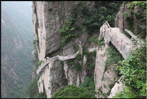 Caminos de Huangshan, China
