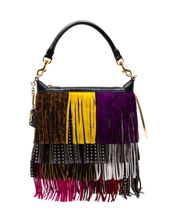 SAINT LAURENT Multi-Coloured Fringe Emmanuelle Hobo Bag  http://bit.ly/1PwC9mw