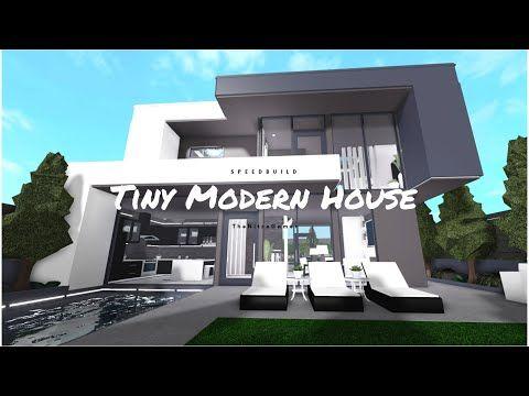 Roblox Bloxburg Tiny Modern House Speedbuild 14 Youtube In 2020 Modern House Modern Family House Modern Tiny House