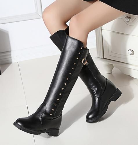 Womens Casual Side Zip Low Block Heels Strappy Buckle Ankle Boots Shoes US4.5-9