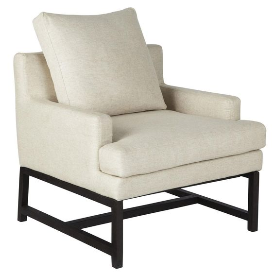 Manhattan Low Back Modern Armchair - White #OKA #Furniture #Design