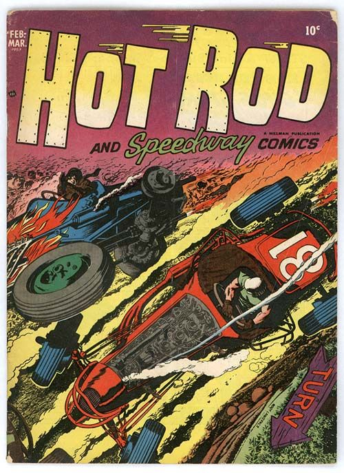 Comic Book Cover Poster Drag-Strip Hotrodders #2 January 1965