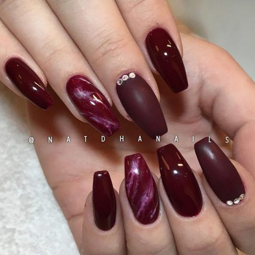 45 Newest Burgundy Nails Designs You Should Definitely Try