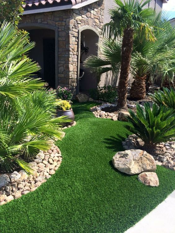 Artificial grass grasses faux grass and las vegas for Grass garden ideas