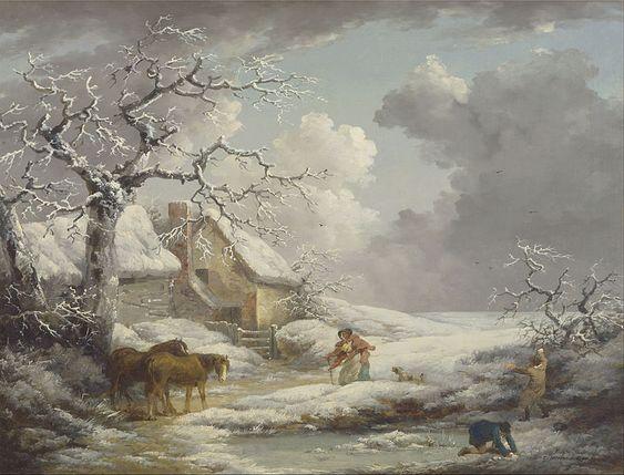 Morland, George, (1763-1804), Winter Landscape, 1790, Oil