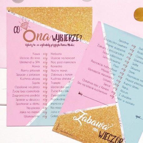 Najlepsza Gra Na Wieczor Panienski Co Ona Wybierze Absolutny Hit Sprawdzcie Jak Dobrze Znacie Panne Mloda Gifts For Wedding Party Geek Wedding Diy Wedding