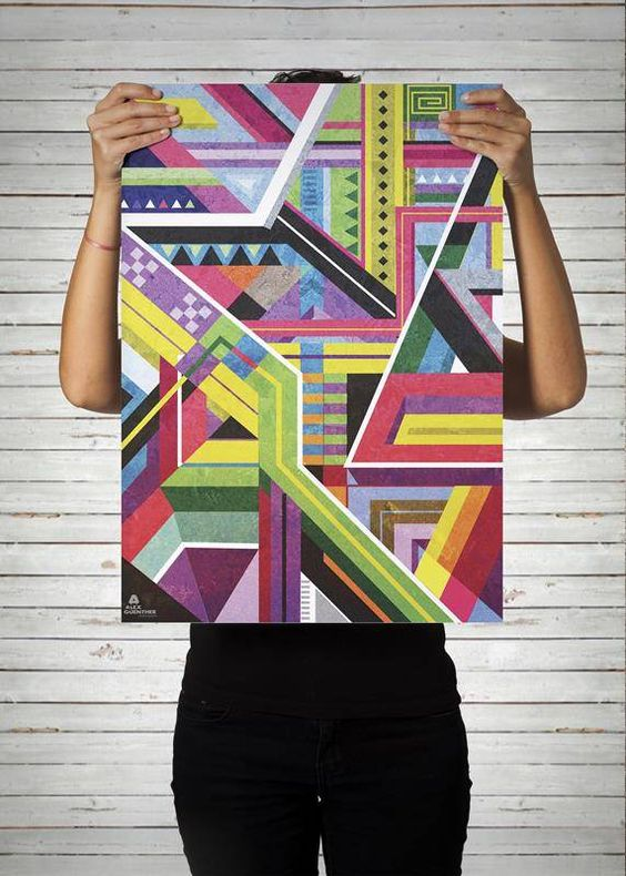Poster Simetria / Artista: Alex Guenther