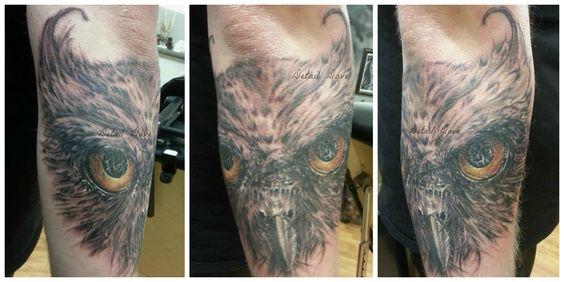 #tattoo #owl #montana #missoula #alteredskin #owltattoo #detaildave