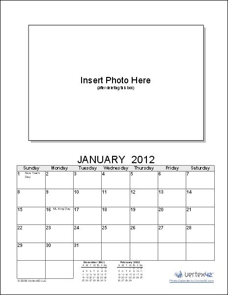 Create a photo calendar using your own photos with this free Photo - how to create your own calendar