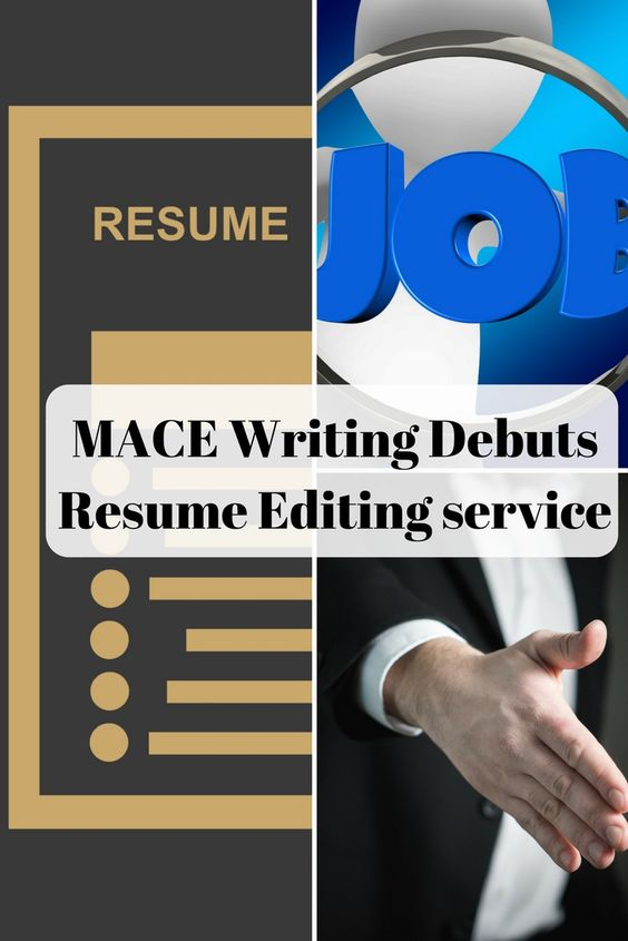 MACE Writing is pleased to announce the debut of our new resume - resume editing