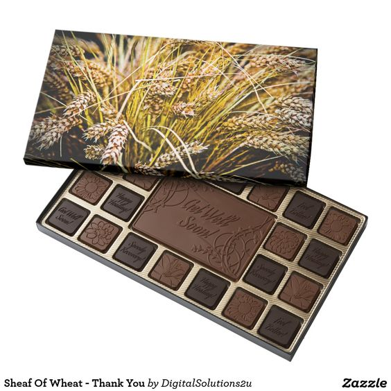 Sheaf Of Wheat - Thank You 45 Piece Assorted Chocolate Box