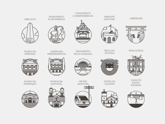 Icons São Paulo - Brasil