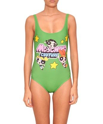 MOSCHINO Swimsuite With Superchicche Print. #moschino #cloth #print