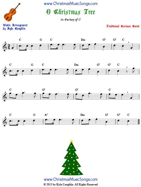 O Christmas Tree For Violin Arranged To Play Along With Strings Woodwinds And Brass Free P Trombone Sheet Music Christmas Sheet Music Saxophone Sheet Music