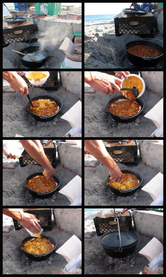 Camping recipe for chicken enchiladas in a dutch oven for How to cook in a dutch oven over a campfire