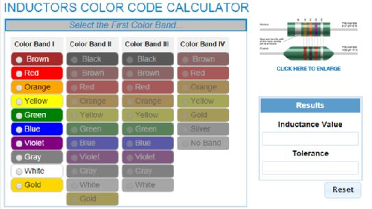 inductor chart Gallery  Inductance Color Code Calculator