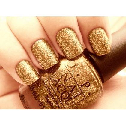 O.P.I: Noteworthy Nails, Nails Nails, Gold Nails, Luv Nails, Gold Glitter Nails, Makeup Nails Hair, Makeuppp Beauty
