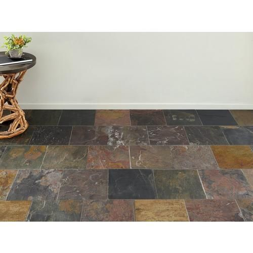 peacock multicolor slate tile floor