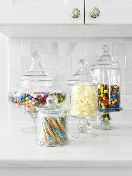 Display candy in apothecary jars! #kitchen #hgtvmagazine http://www.hgtv.com/kitchens/inside-alison-victorias-kitchen/pictures/page-9.html?soc=pinterest