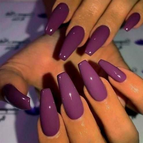 Acrylic Nails Coffin Plum Nails New Year S Nails Christmas Nails Acrylic