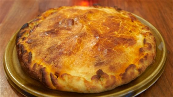 Frank Camorra's delicious Empanada (Sherry Pastry Filled Pork and Piquillo)