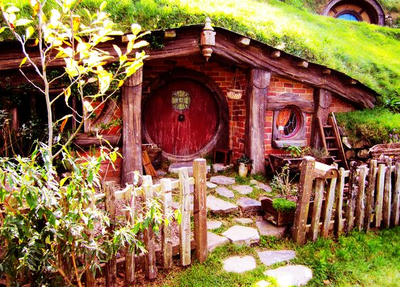 Hobbit Hobbit Door Hobbit Houses Yards Hobbit Home Doors Hobbit Hole